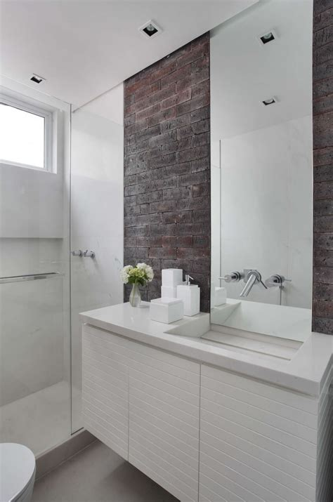 brick in a bathroom exposed brick walls add charm and appeal decoholic