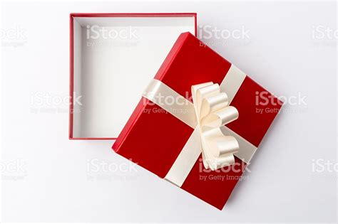 photo presents open gift box top view stock photo istock