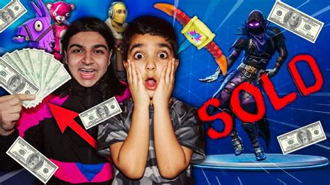 fortnite for sale i sold my 5 year brothers fortnite account