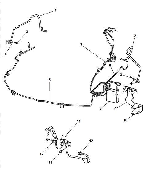 brake line diagram front brake lines hoses for 2004 dodge intrepid