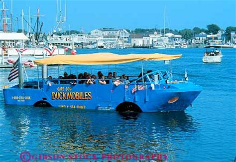 duck boat tours hyannis people riding in duckmobile hyannis cape cod massachusetts