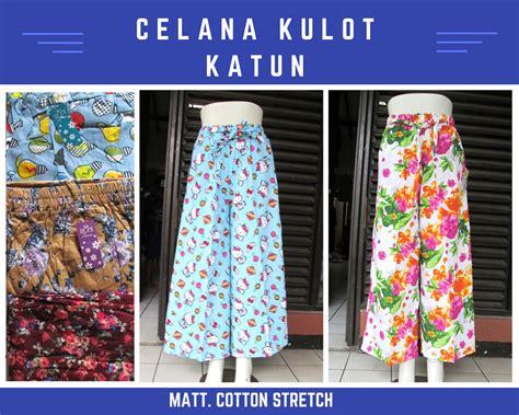 Distributor Celana Kulot Katun Dewasa Murah Bandung 35Ribu