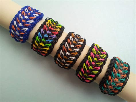 Cool Things To Make With Rubber Bands And Paper - rainbow loom rubber band bracelet galaxy or custom