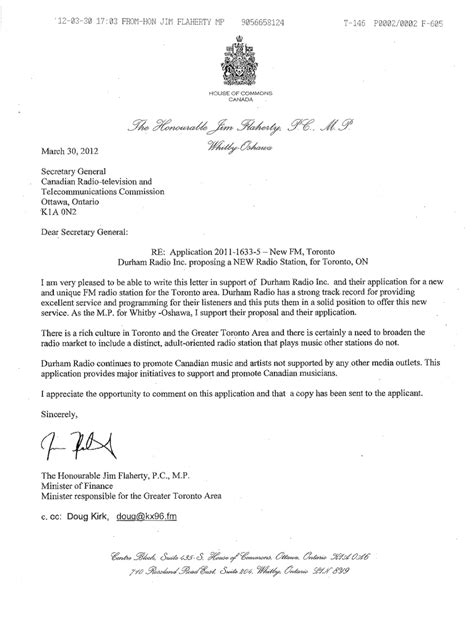 Petition Letter To The Minister Did Flaherty Accountability Guidelines Ctv News