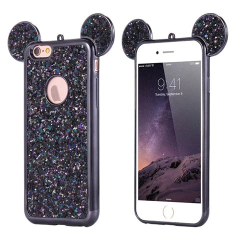 Soft Casing 3d Tpu Iphone 7 Original soft 3d bling mouse ear tpu silicone sparkle cover