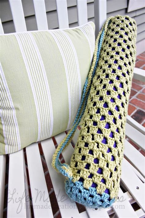 pattern for yoga mat tote life made creations crochet yoga mat bag crochet