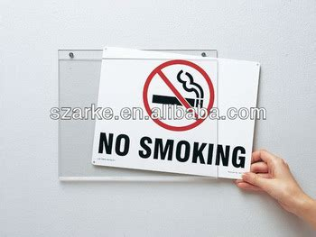no smoking sign board pictures wall mounted acrylic 12 9 no smoking sign board holder