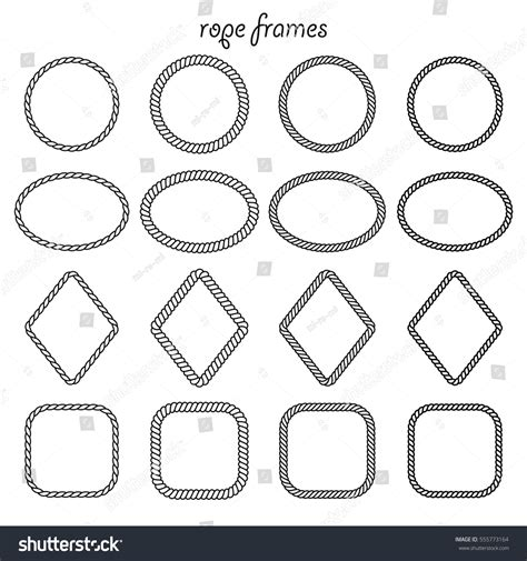 Square Marco Oval vector set oval square rhombus vectores en stock