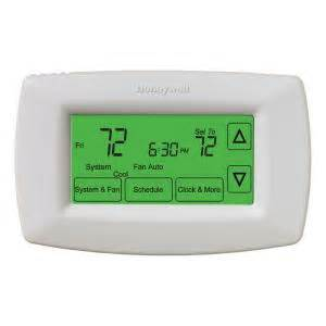 home depot thermostat honeywell 7 day programmable touchscreen thermostat