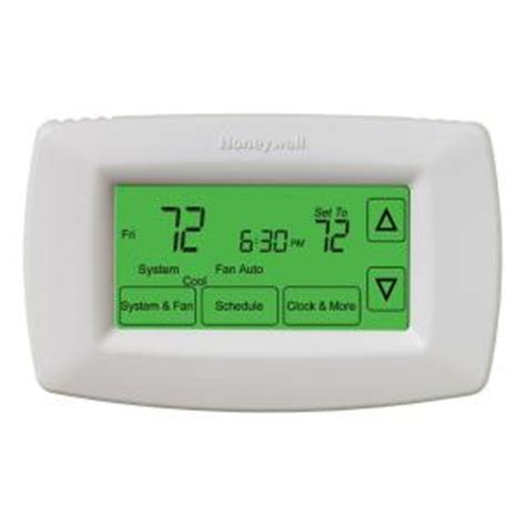 Thermostat Home Depot by Honeywell 7 Day Programmable Touchscreen Thermostat Rth7600d The Home Depot