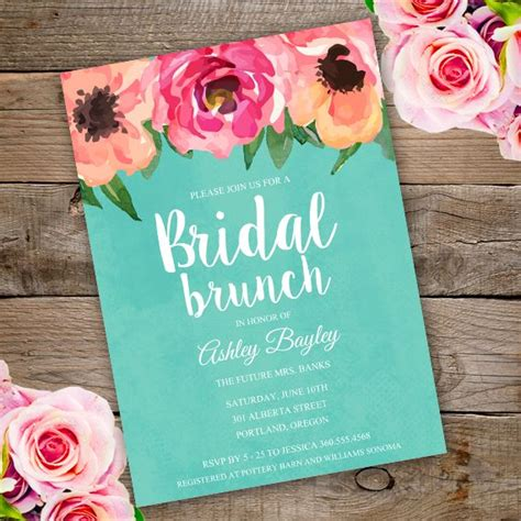 invite guests to shower but not wedding printable bridal shower bruch invitation template invite your guests to your bridal shower with