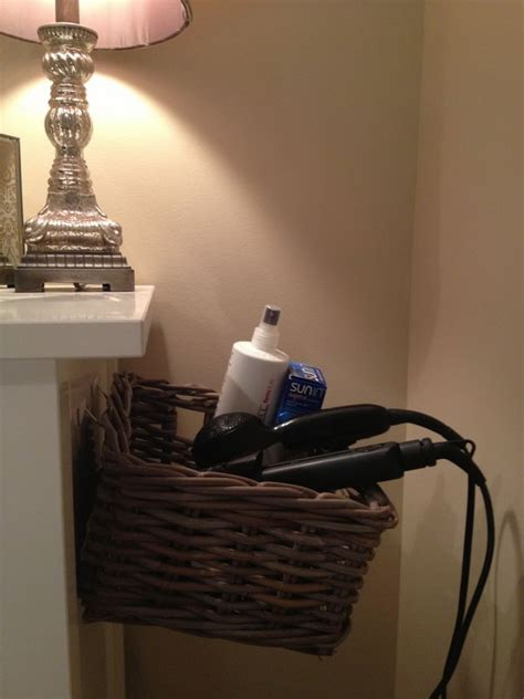 Bathroom Caddy Ideas by Creative Hair Dryer And Curling Iron Storage Ideas