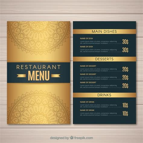 design a menu online free restaurant menu vectors photos and psd files free download