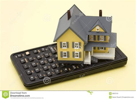house mortgage calculation mortgage calculator royalty free stock images image 5667519