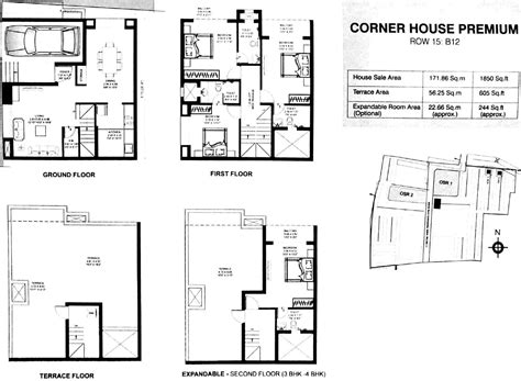 1st floor plan overview growing up in a frank lloyd wright house by kim bixler 1850 sq ft 3 bhk 3t villa for sale in dugar homes growing