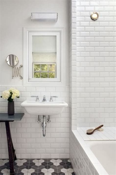 subway wall tile bathroom 26 refined d 233 cor ideas for a vintage bathroom digsdigs