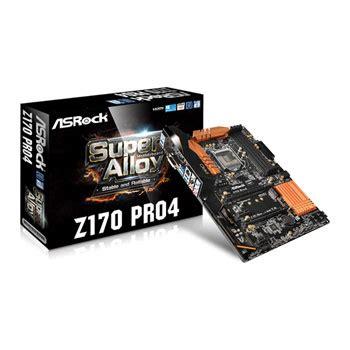 Asrock Z170 Pro4 1151 asrock pro4 z170 skylake atx gaming motherboard ln67554 z170 pro4 scan uk