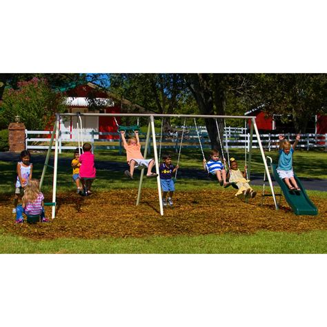 flexible flyer swing set flexible flyer fun fantastic swing set at hayneedle