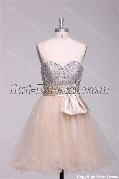 champagne beaded short quinceanera court dresses 1st dress com
