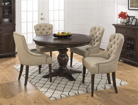48 plywood round tables seats 4 6 jofran geneva hills round to oval table with pedestal base