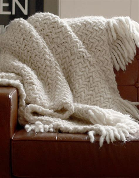 Decke Gestrickt by How To Knit A Blanket Wool And The Free