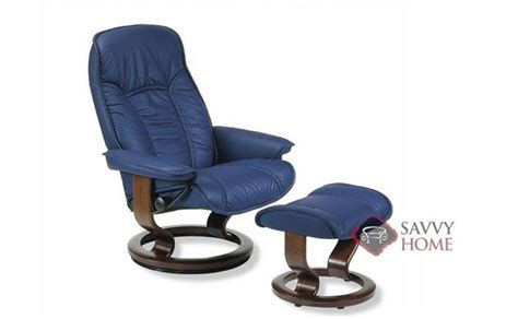 Stressless Senator Recliner by Ship Senator Leather Chair In Black By