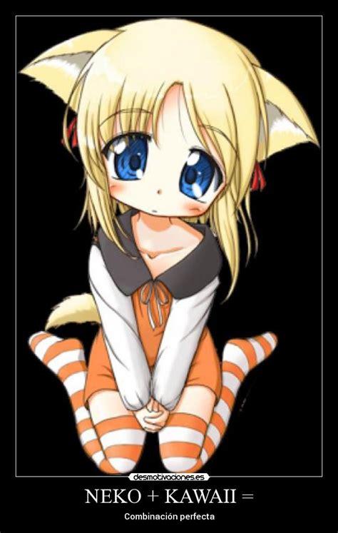 imagenes kawaii anime neko neko kawaii desmotivaciones
