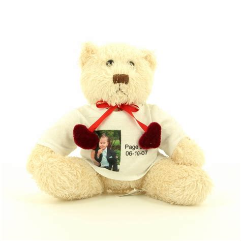 personalised photo teddy bear a1 personalised gifts