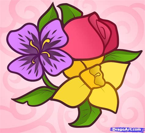 Drawing Flowers by How To Draw Easy Flowers Step By Step Flowers Pop