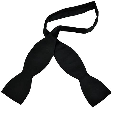 black self tie bow tie from ties planet uk