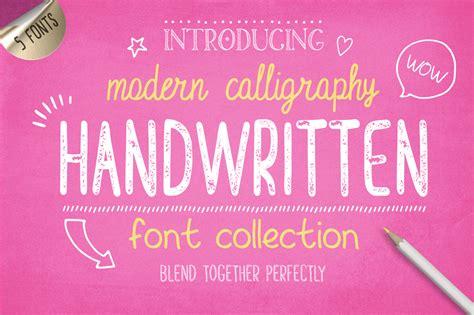 design font collection handwritten font collection by julia dr font bundles