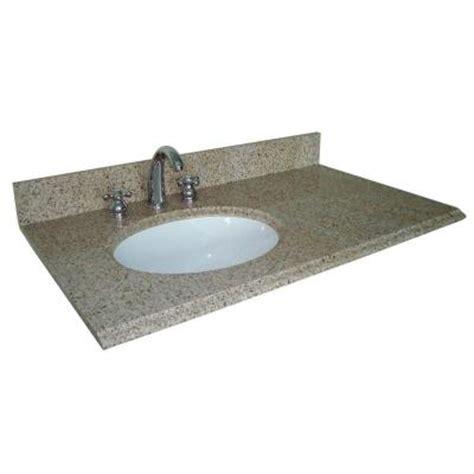 offset bathroom vanity tops pegasus 37 in w granite vanity top in beige with offset