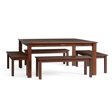 pottery barn bench table chatham square dining table bench set pottery barn