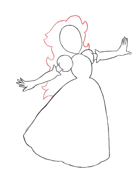 How To Draw Cute Princesses How To Draw A Princess Dress Step By Step Printable