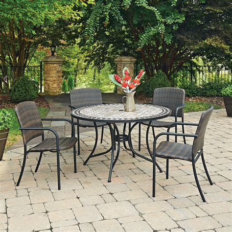 cottage 5 dining set home styles cottage 5 marble outdoor dining set 5605