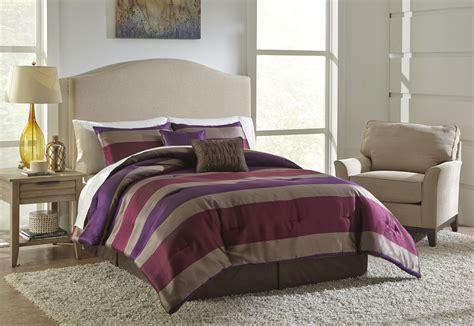 essential home comforter set essential home striped comforter set taupe red home