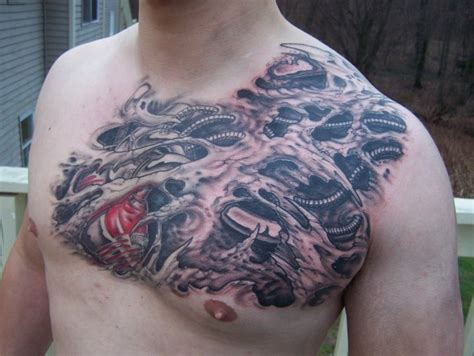 biomechanical chest tattoo designs biomechanical tattoos and designs page 57