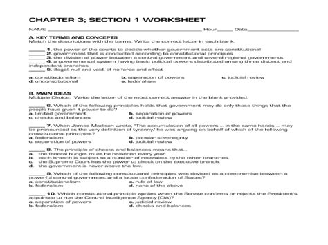 Principles Of The Constitution Worksheet by Uncategorized Constitution Worksheets Klimttreeoflife