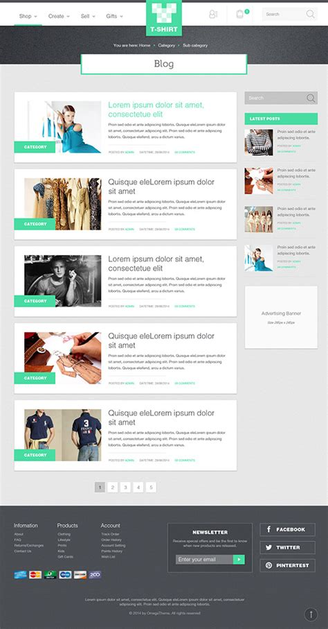 create blog layout joomla ot tshirt responsive fashion store joomla template