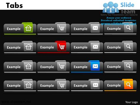 powerpoint themes tab tabs powerpoint ppt templates