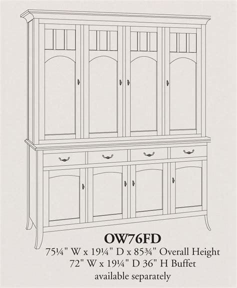 Dining Room Hutch Size World Four Door China Hutch Ohio Hardwood Furniture