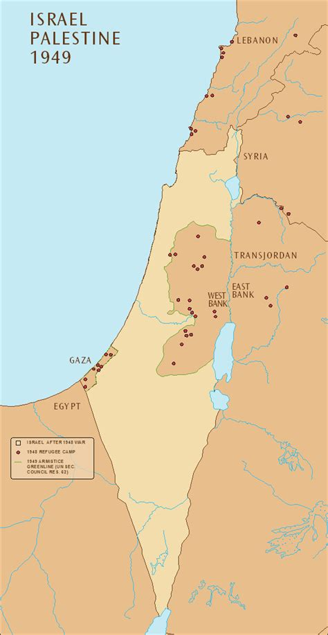 map of israel and palestine the middle east maps israel palestine 1949 map