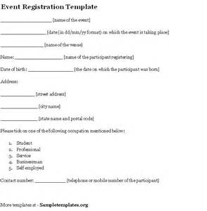 Free Registration Template by Event Template For Registration Exle Of Event
