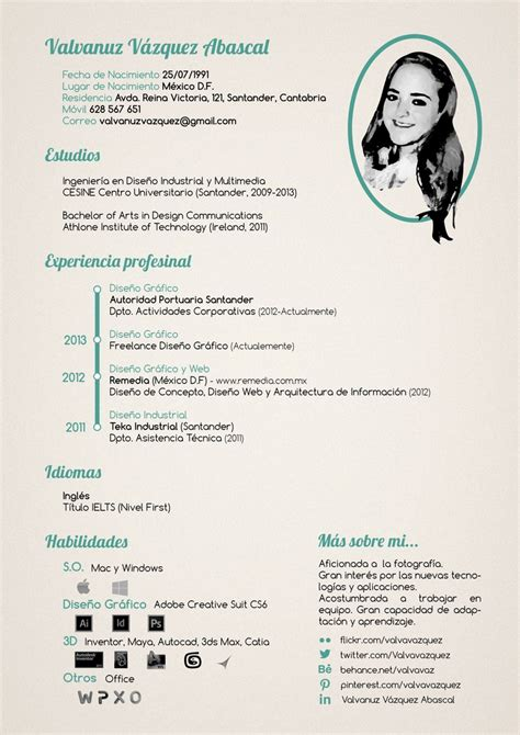 curriculum vitae design software 17 best images about curriculums creativos on pinterest