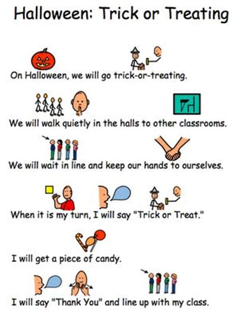 Social Story For Trick Or Treating Free Printable Ideas For Social Stories