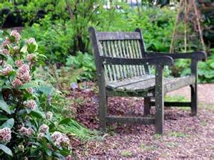 growing with plants garden bench round up bench garden photo