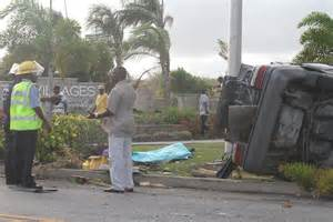 fatal accident at coverley barbados today