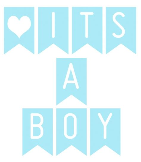 templates for baby shower banners free printable banner it s a boy printable banners