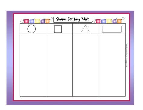 Sorting Shapes Worksheets For Kindergarten by Kindergarten Crayons Stomp Your On More Of My Math Mats