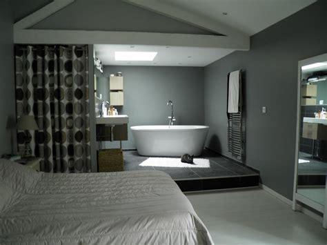 chambre de bain d馗oration emejing salle de bain ouverte sur chambre construire ideas